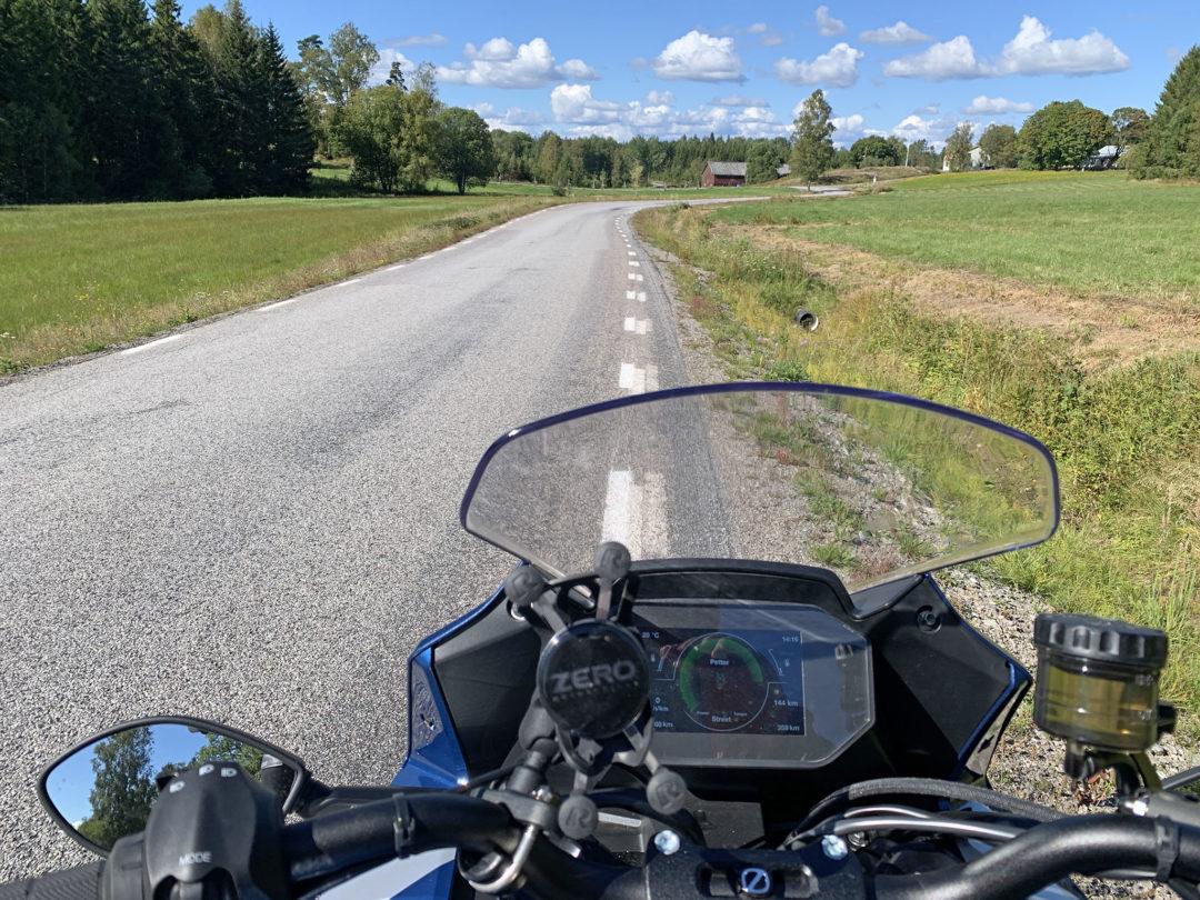 Härliga MC-vägar i Dalsland.