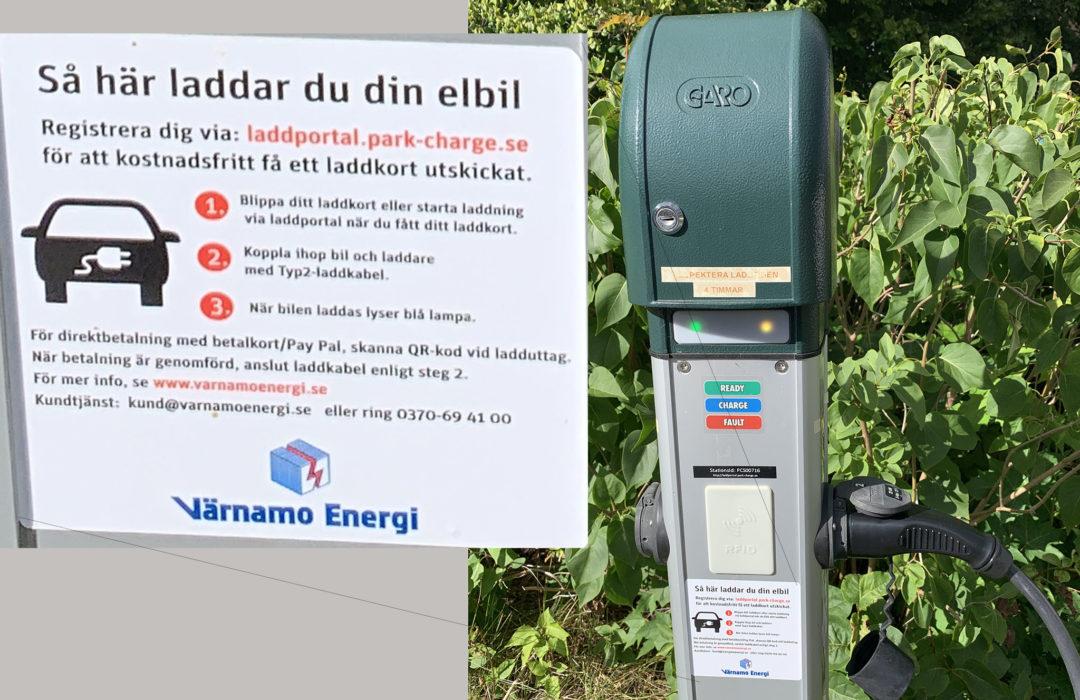 """""""Så här laddar du din elbil:Registrera dig via laddportal.park-charge.se för att kostnadsfritt få ett laddkort utskickat."""""""