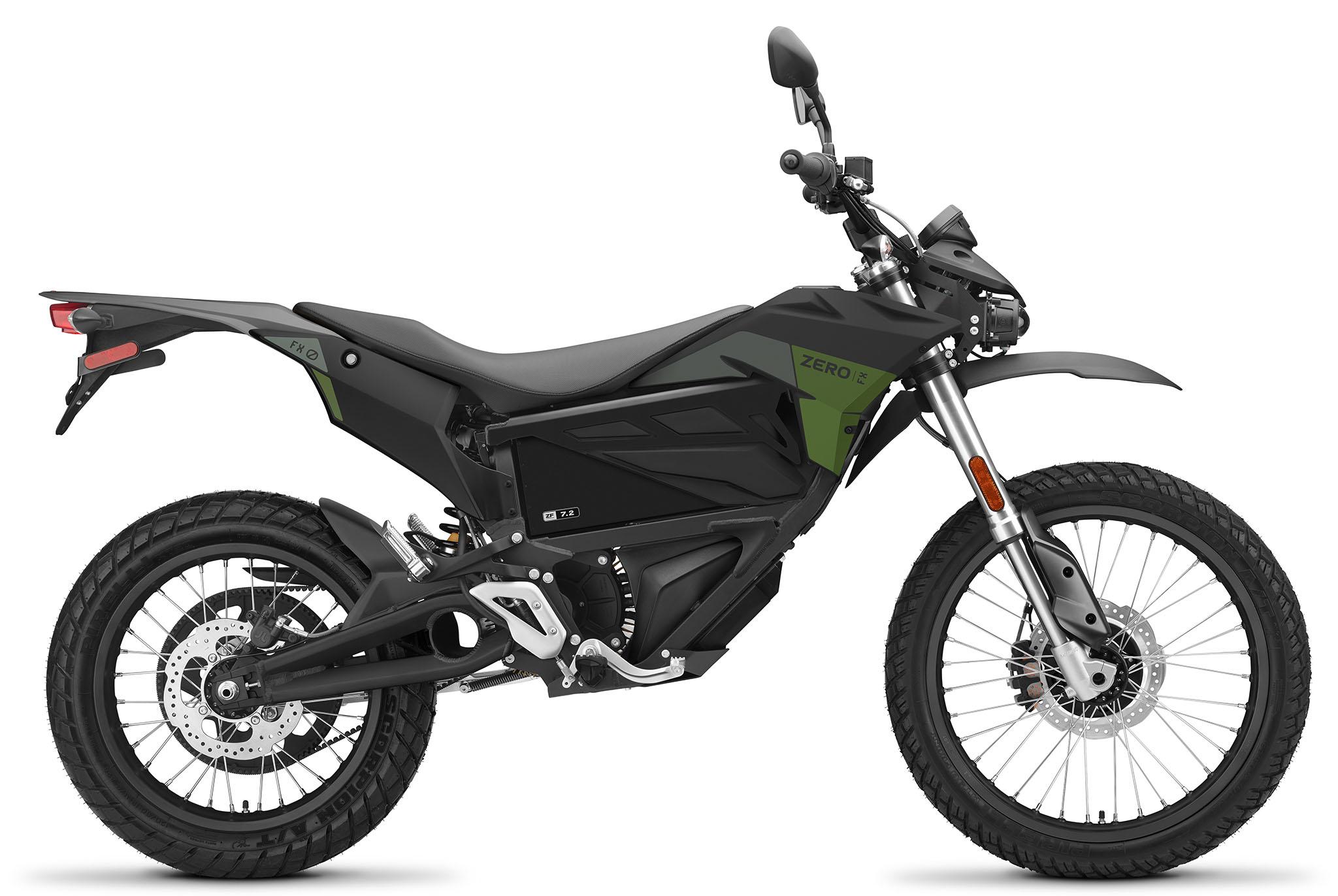 Zero FX ZF7.2 är mörkt grå/grön i 2021 års modell.