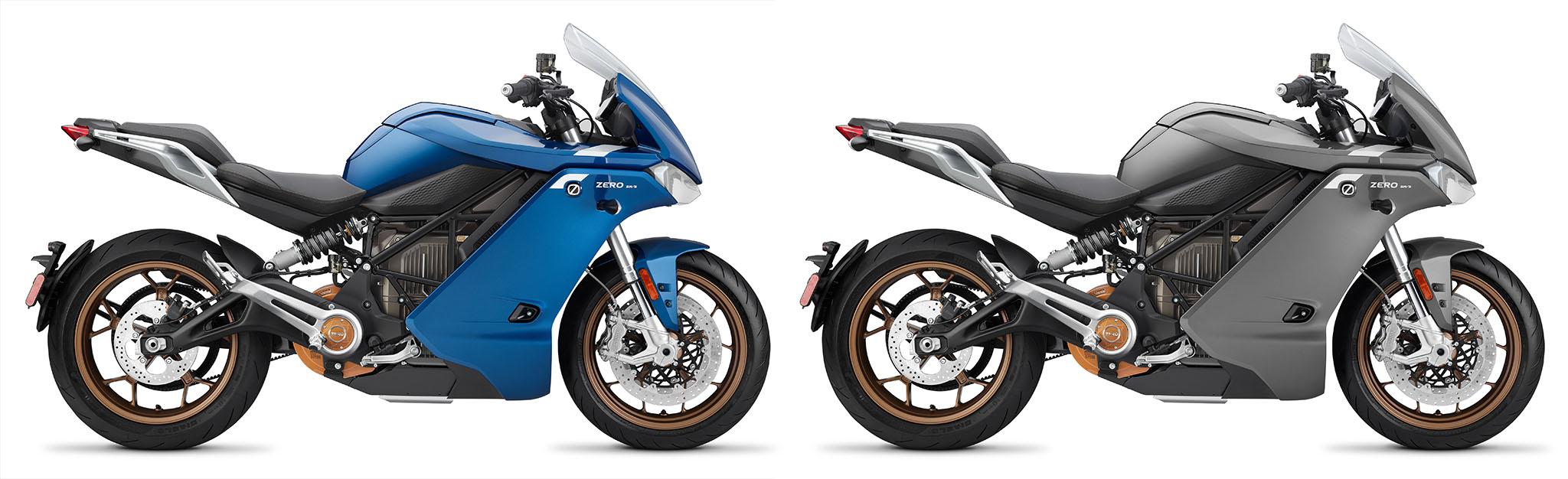 Zero SR/S ZF14.4 behåller färgerna grått och blått i 2021 års modeller.
