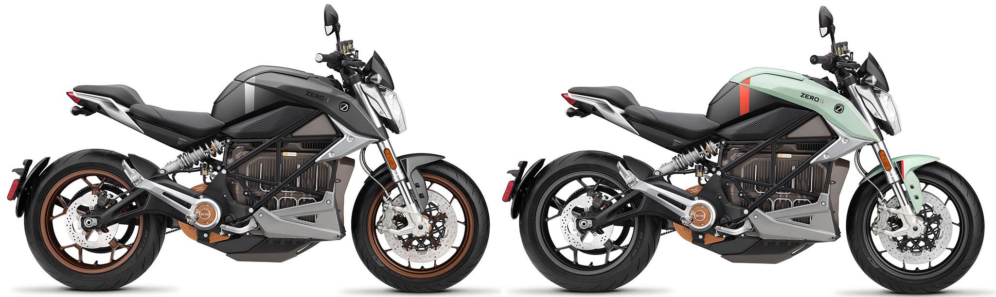 Zero SR/F ZF14.4 i den nya dekoren i grått och mintblått utförande till 2021 års modell.