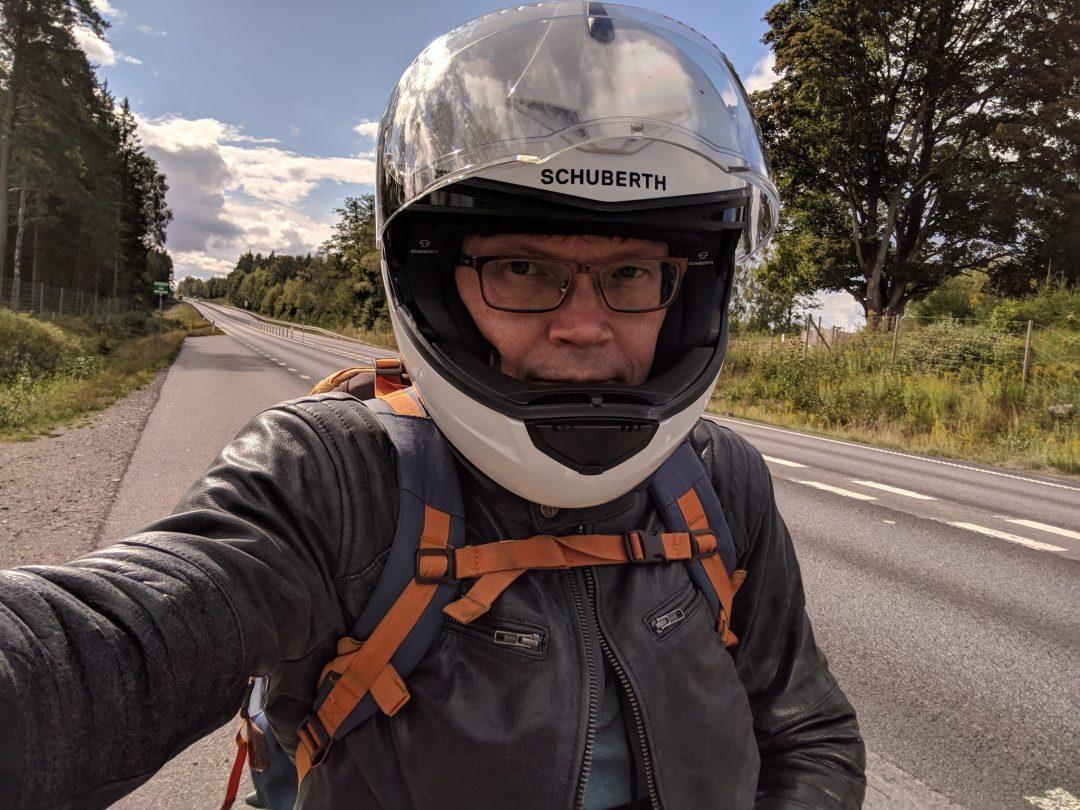 Selfie på väg från Växjö till Stockholm. Foto: Mikael Bergqvist.