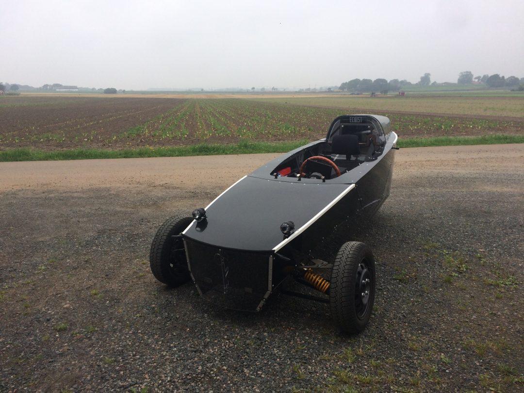Ecoists första riktigt körbara prototyp har nu rullat ett år och även varit med om en olycka, men reparerats igen.