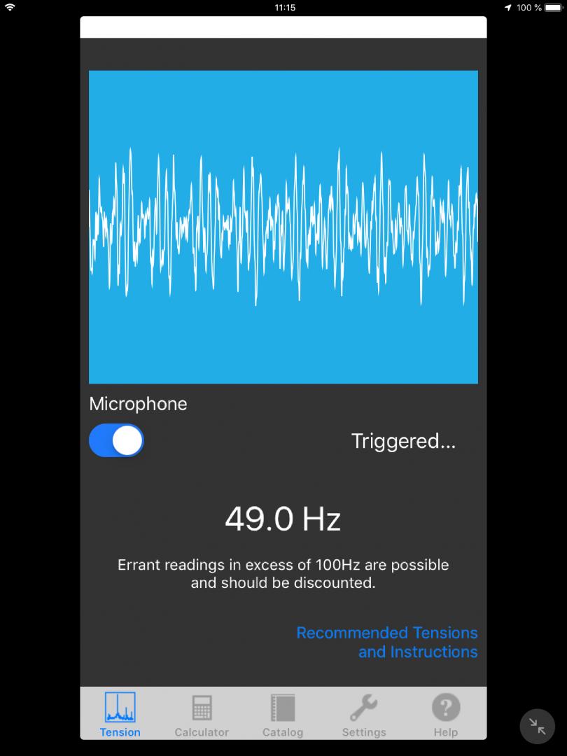 Gates Carbon Drive är en app som är enkel att använda för att lyssna av tonen från remmen.