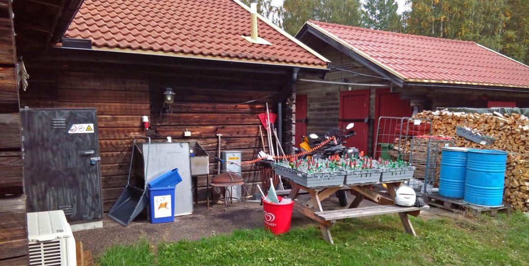 Lunchladdning med 5 kW vid Fänforsens restaurang i Björbo. Foto: Petter Hammarbäck