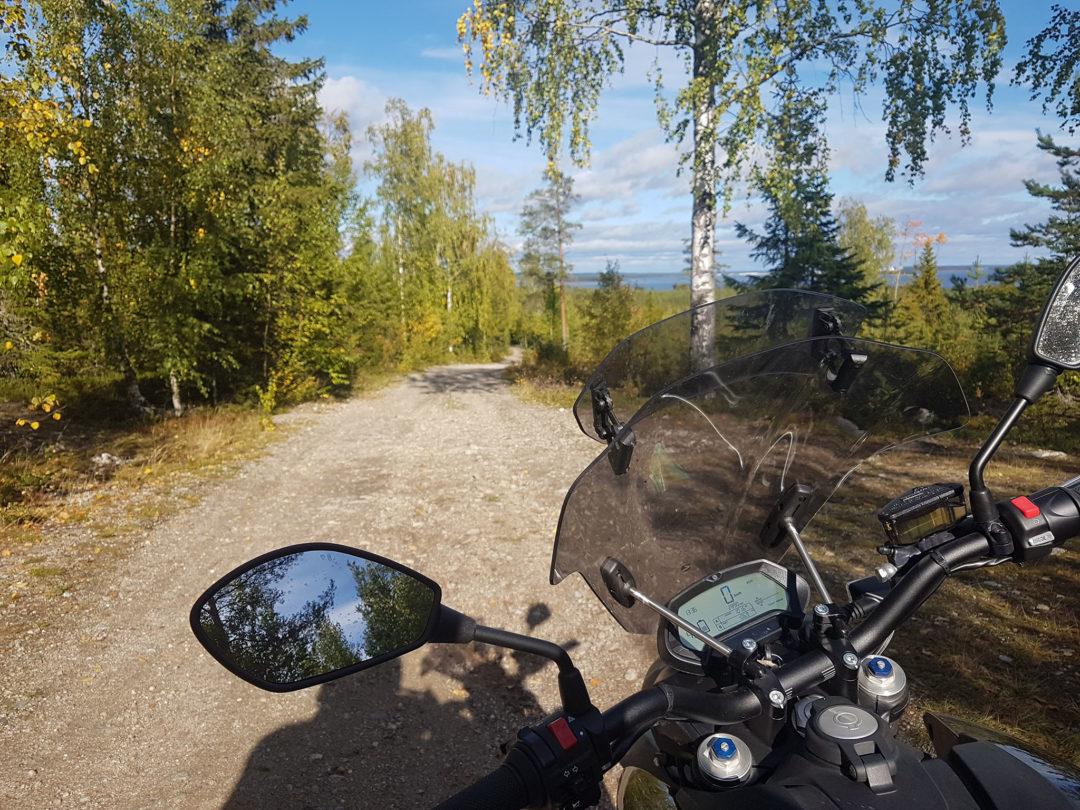 Utsikt mot Piteå från kustlandsvägen.