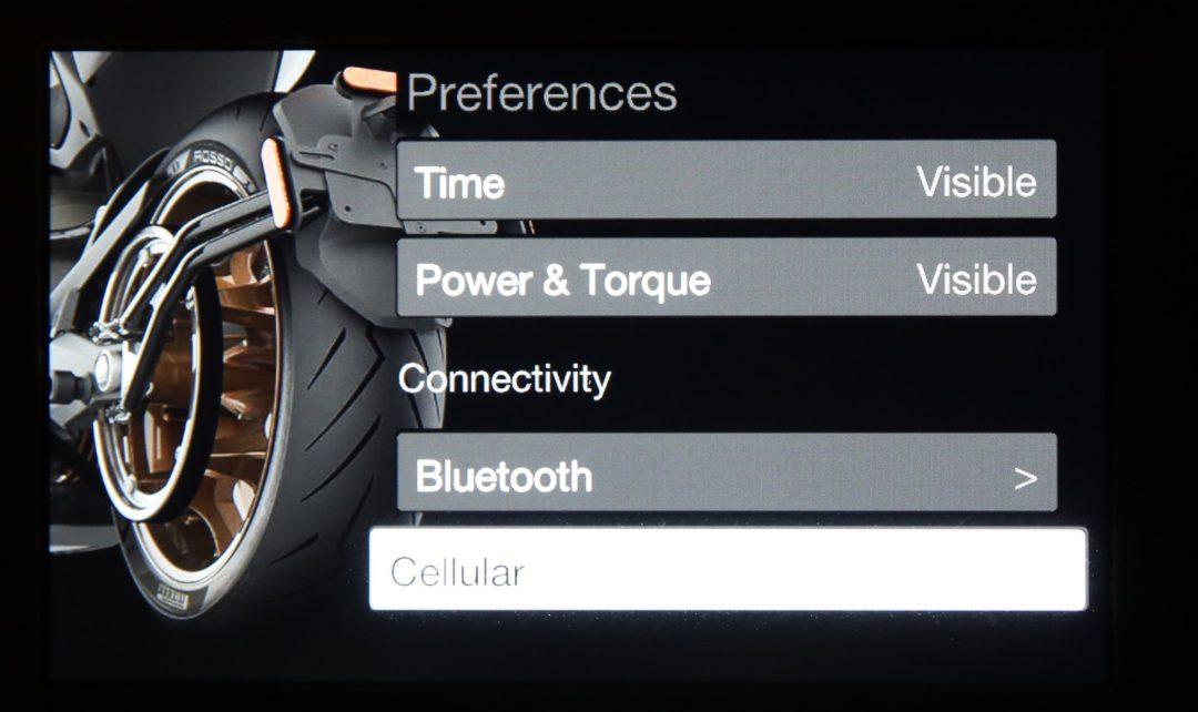 Menyerna på SR/F:ens bildskärm är mycket tydliga och navigeras med Mode-knappen.