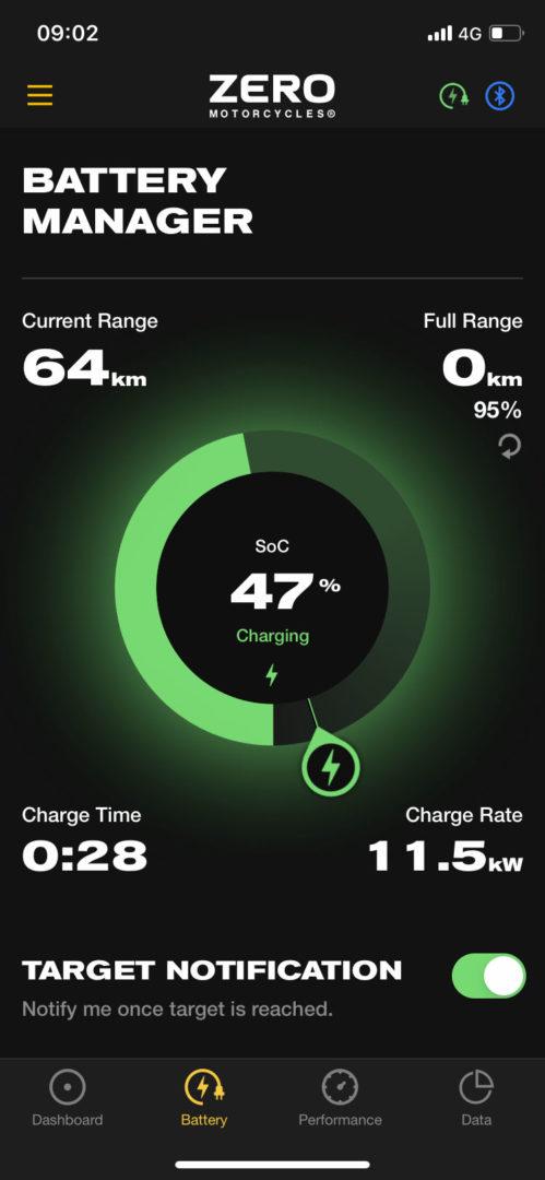 Med 12 kW laddkapacitet går det att ladda tomt till fullt på cirka en timme!
