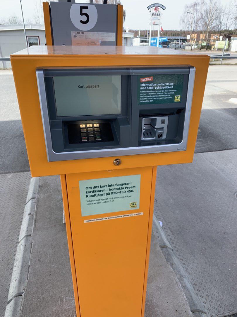 Även bensinpumpar och dess kortläsare strular ibland.