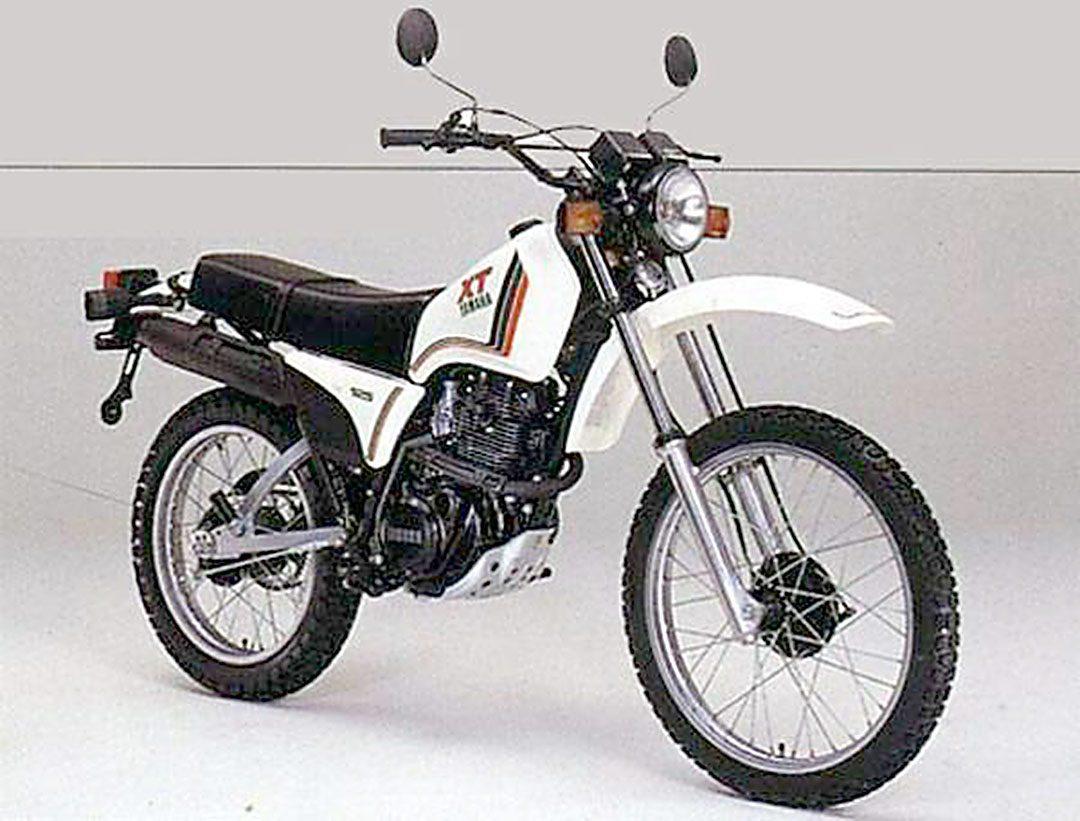 Yamaha XT 125 1980 i min ägo mellan 1980-1982. En slitvarg som kördes i ur och skur även på vintern då jag pendlade till jobbet.