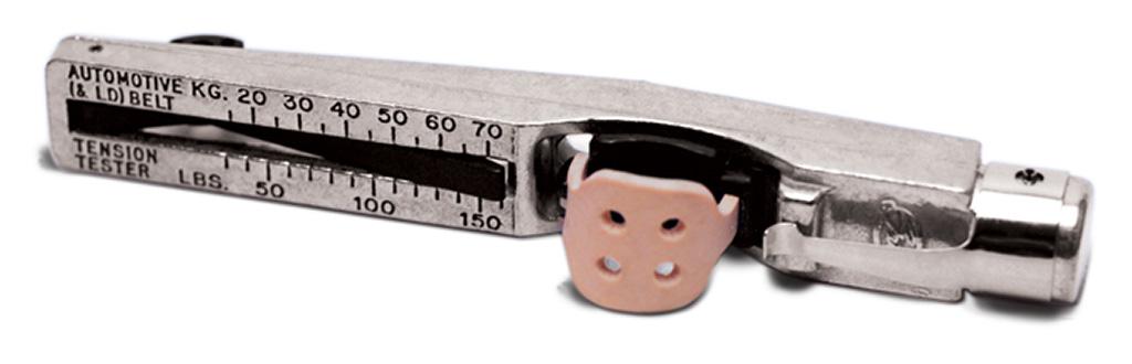 Gates Kritik V-Belt Tension Gauge är ett smart verktyg som gör det enkelt att kontrollera drivremmens spänning som bör vara mellan 25-75 kg.