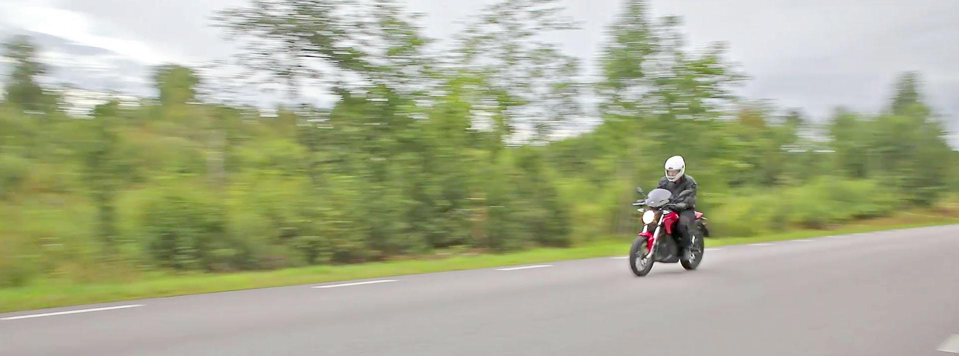 Zero SR passerar för ljudinspelning av motorljudet. Foto: Petter Hammarbäck