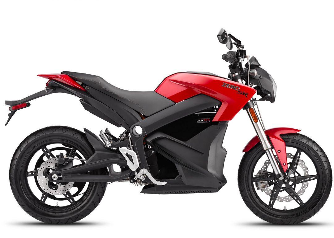 2014 års Zero SR hade ett 11,4 kWh batteri, 67 hästkrafter och ett vrid på 144 Nm som tog den 0–100 på 3,3 sekunder. Foto: Zero Motorcycles.