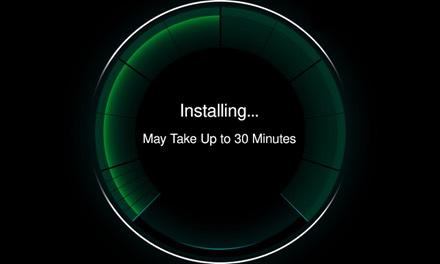 Uppdateringen installeras om och när du valt att låta det ske.