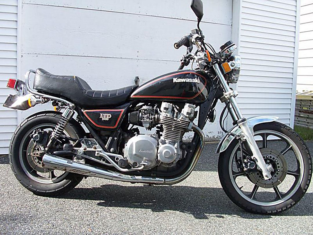 Kawasaki Z1000 LTD 1982 i min ägo mellan 1990-2002.