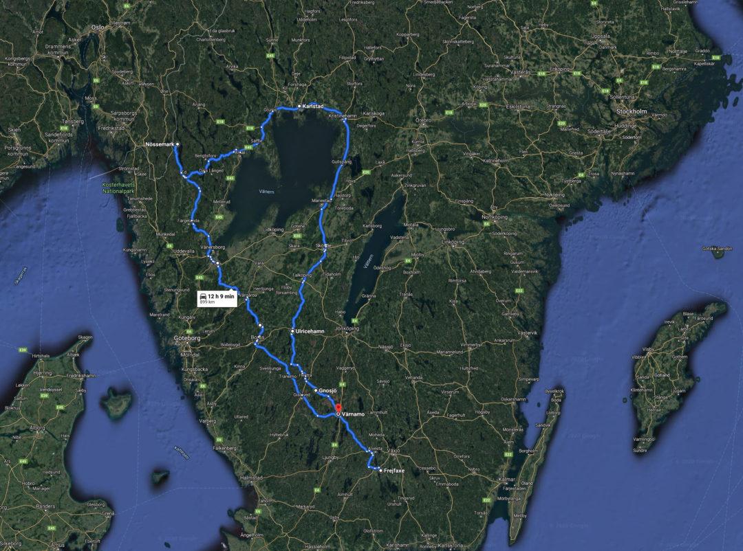 Årets laddresa slutade lyckligt på 104 mil.