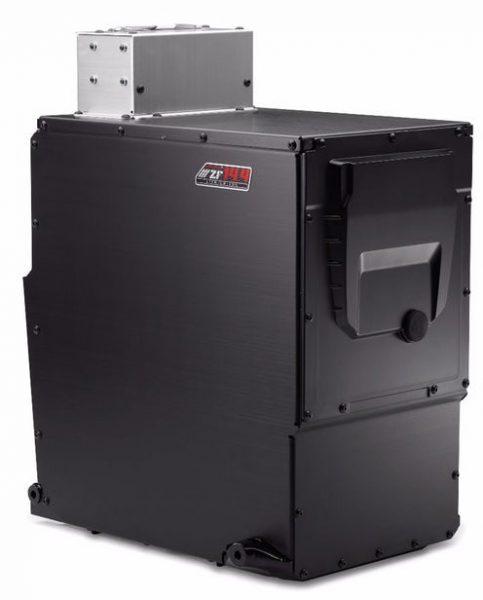 Zeros 14,4 kWh batteripack motsvarar 1,5 liter bensin om man enbart ser till energiinnehållet. Foto: Zero Motorcycles